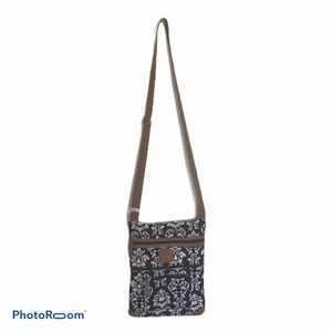 Stone Mountain CrossBody Blk/Wht Quilted Purse